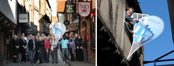 Traders on the Shambles with coun. John Galvin and Google Team